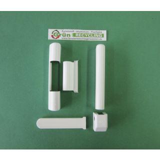 Roto 5-teilig Abdeckkappenset für Kunststofffenster weiß Kunststoff